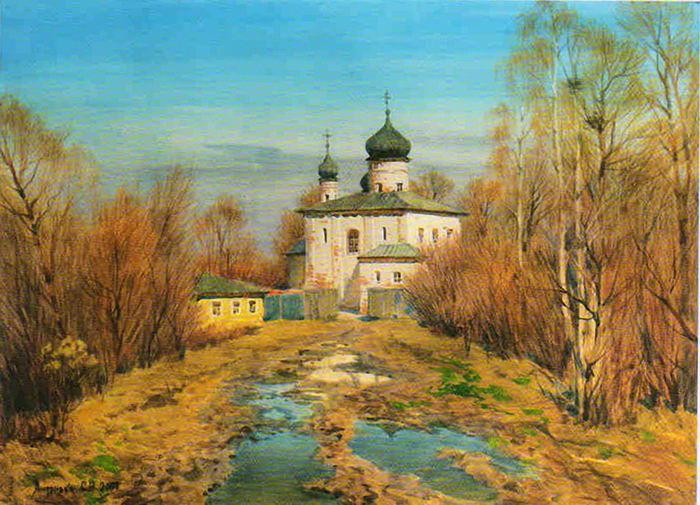 Сергей Андрияка. Весна под Великим Новгородом