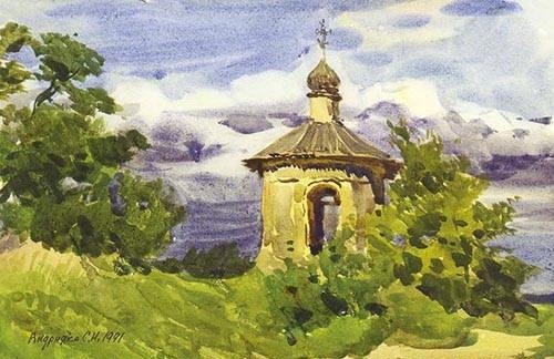 Сергей Андрияка. Часовня неподалёку от Святогорского монастыря