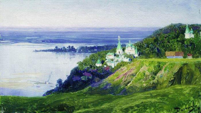 Василий Поленов. Монастырь на берегу