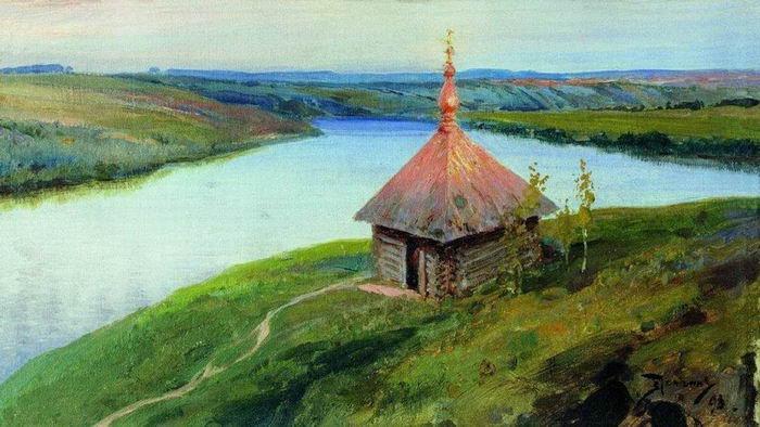Василий Поленов. Часовня на Оке