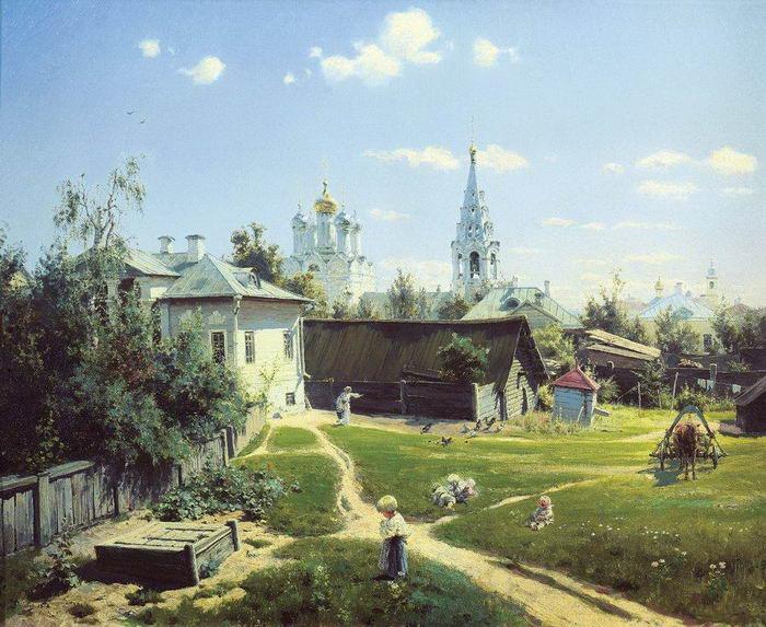 Василий Поленов. Московский дворик
