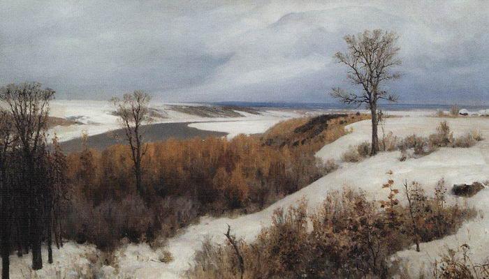 Василий Поленов. Ранний снег